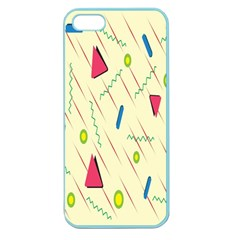 Background  With Lines Triangles Apple Seamless Iphone 5 Case (color)