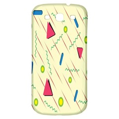 Background  With Lines Triangles Samsung Galaxy S3 S Iii Classic Hardshell Back Case by Mariart