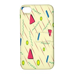 Background  With Lines Triangles Apple Iphone 4/4s Hardshell Case With Stand by Mariart