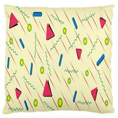 Background  With Lines Triangles Standard Flano Cushion Case (two Sides) by Mariart