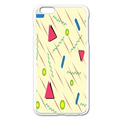 Background  With Lines Triangles Apple Iphone 6 Plus/6s Plus Enamel White Case by Mariart