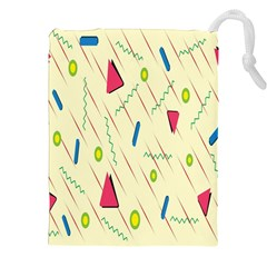 Background  With Lines Triangles Drawstring Pouches (xxl) by Mariart