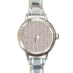 Batik Java Culture Traditional Round Italian Charm Watch by Mariart