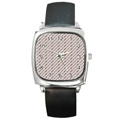 Batik Java Culture Traditional Square Metal Watch by Mariart