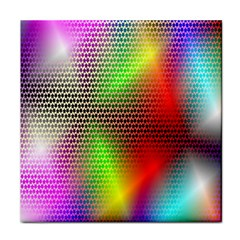 Abstract Rainbow Pattern Colorful Stars Space Tile Coasters by Mariart