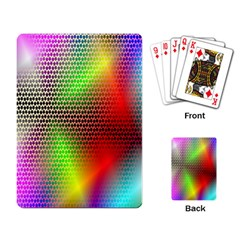 Abstract Rainbow Pattern Colorful Stars Space Playing Card by Mariart