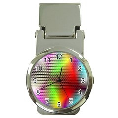 Abstract Rainbow Pattern Colorful Stars Space Money Clip Watches by Mariart