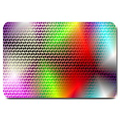 Abstract Rainbow Pattern Colorful Stars Space Large Doormat  by Mariart