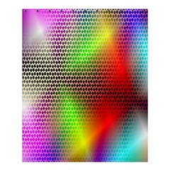 Abstract Rainbow Pattern Colorful Stars Space Shower Curtain 60  X 72  (medium)  by Mariart
