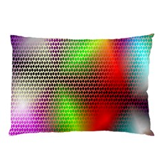 Abstract Rainbow Pattern Colorful Stars Space Pillow Case (two Sides) by Mariart
