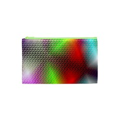 Abstract Rainbow Pattern Colorful Stars Space Cosmetic Bag (xs) by Mariart