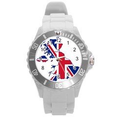 Britain Flag England Nations Round Plastic Sport Watch (l) by Mariart