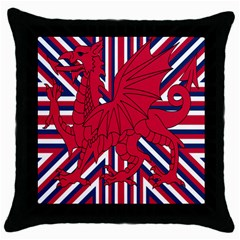Alternatively Mega British America Red Dragon Throw Pillow Case (black) by Mariart