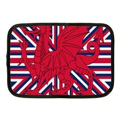 Alternatively Mega British America Red Dragon Netbook Case (medium)  by Mariart
