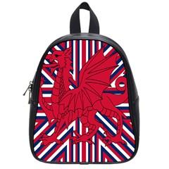 Alternatively Mega British America Red Dragon School Bag (small) by Mariart