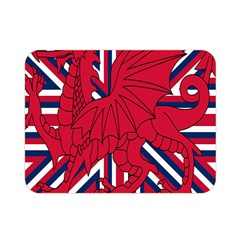 Alternatively Mega British America Red Dragon Double Sided Flano Blanket (mini)  by Mariart