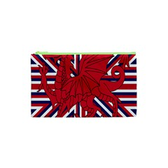 Alternatively Mega British America Red Dragon Cosmetic Bag (xs) by Mariart