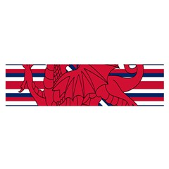 Alternatively Mega British America Red Dragon Satin Scarf (oblong) by Mariart
