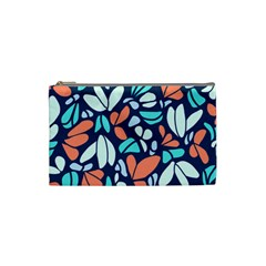 Blue Tossed Flower Floral Cosmetic Bag (small)  by Mariart