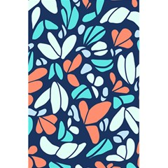 Blue Tossed Flower Floral 5 5  X 8 5  Notebooks by Mariart