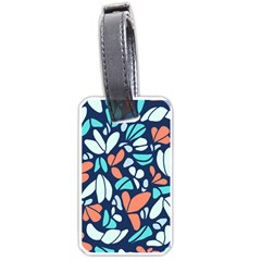 Blue Tossed Flower Floral Luggage Tags (two Sides) by Mariart
