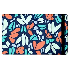 Blue Tossed Flower Floral Apple Ipad 3/4 Flip Case by Mariart