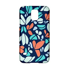 Blue Tossed Flower Floral Samsung Galaxy S5 Hardshell Case  by Mariart