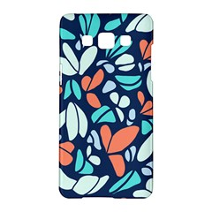 Blue Tossed Flower Floral Samsung Galaxy A5 Hardshell Case  by Mariart