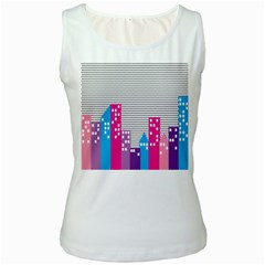 Building Polka City Rainbow Women s White Tank Top by Mariart