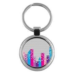 Building Polka City Rainbow Key Chains (round)  by Mariart