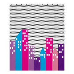 Building Polka City Rainbow Shower Curtain 60  X 72  (medium)  by Mariart