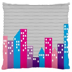 Building Polka City Rainbow Standard Flano Cushion Case (one Side) by Mariart