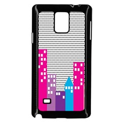 Building Polka City Rainbow Samsung Galaxy Note 4 Case (black) by Mariart