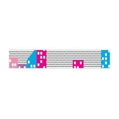 Building Polka City Rainbow Flano Scarf (mini) by Mariart