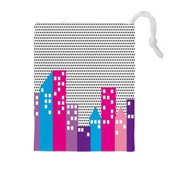 Building Polka City Rainbow Drawstring Pouches (extra Large) by Mariart