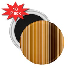 Brown Verticals Lines Stripes Colorful 2 25  Magnets (10 Pack)  by Mariart