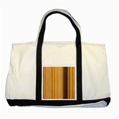 Brown Verticals Lines Stripes Colorful Two Tone Tote Bag by Mariart