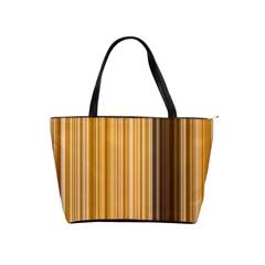 Brown Verticals Lines Stripes Colorful Shoulder Handbags by Mariart