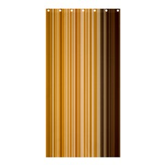 Brown Verticals Lines Stripes Colorful Shower Curtain 36  X 72  (stall)  by Mariart