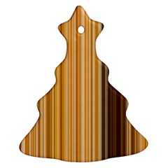 Brown Verticals Lines Stripes Colorful Christmas Tree Ornament (two Sides) by Mariart