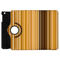 Brown Verticals Lines Stripes Colorful Apple Ipad Mini Flip 360 Case by Mariart
