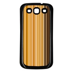 Brown Verticals Lines Stripes Colorful Samsung Galaxy S3 Back Case (black) by Mariart