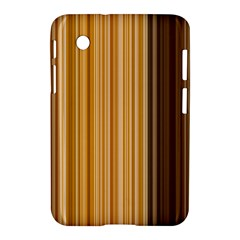 Brown Verticals Lines Stripes Colorful Samsung Galaxy Tab 2 (7 ) P3100 Hardshell Case  by Mariart