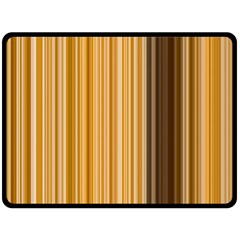 Brown Verticals Lines Stripes Colorful Double Sided Fleece Blanket (large)  by Mariart