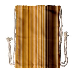 Brown Verticals Lines Stripes Colorful Drawstring Bag (large) by Mariart