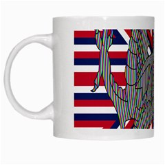 Alternatively Mega British America Dragon Illustration White Mugs by Mariart
