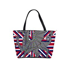 Alternatively Mega British America Dragon Illustration Shoulder Handbags by Mariart