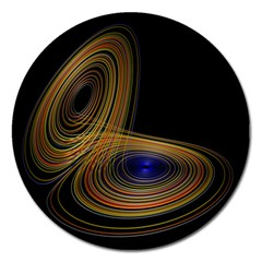 Wondrous Trajectorie Illustrated Line Light Black Magnet 5  (round) by Mariart