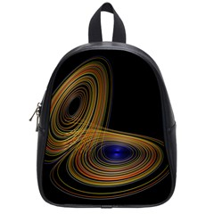 Wondrous Trajectorie Illustrated Line Light Black School Bag (small) by Mariart