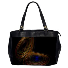 Wondrous Trajectorie Illustrated Line Light Black Office Handbags by Mariart